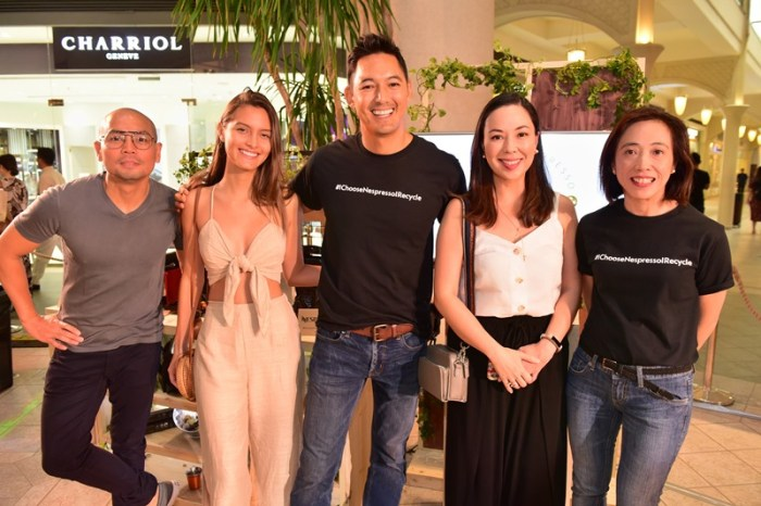 Jinno Rufino, Krystal Xamairy, WWF Philippines National Ambassador and Sustainability Advocate Marc Nelson, Sunshine Puey and Marketing Manager of Novateur Coffee Concepts Mia Silva