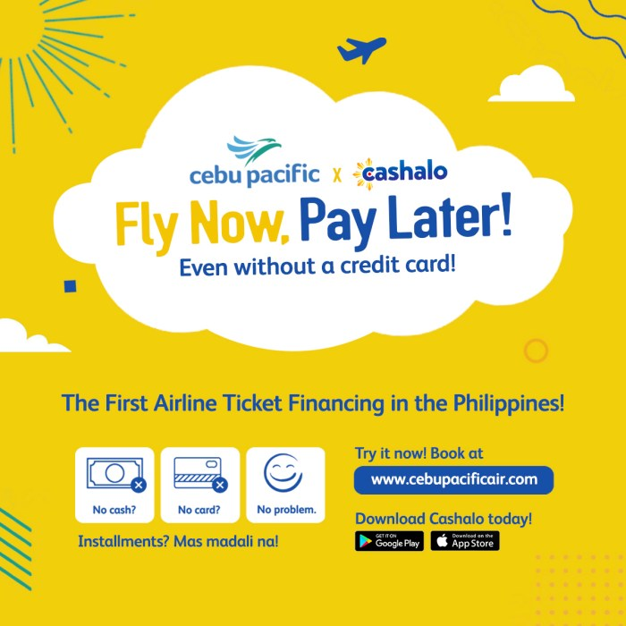 Fly now Pay later with Cebu Pacific and Cashalo