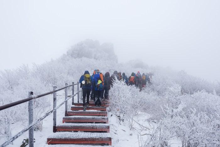 Hiking in Taebaek Korea