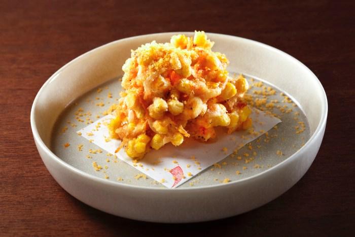 Sakura Shrimp and Corn Tempura