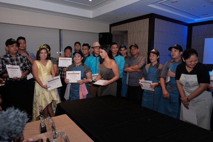 The winners of the 2019 Culinary Cup are: Aurora Abraham of Discovery Shores Boracay for the Table Setting category, Chef Alvin and Chef Ronnie of Discovery Suites for the Hot Section category, Martin Ben Protacio of Discovery Primea for the Bartending category, and finally Chef Robert and Chef Rannie of Club Paradise Palawan for the Pastry category.