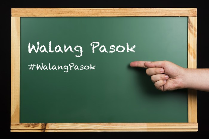 #WalangPasok Announcements Class suspensions for November 2019