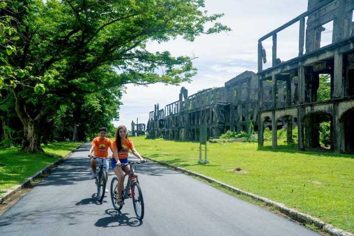 No other place that can engage you both body and mind. Walk or bike around the island while enjoying the historical sites in Corregidor.