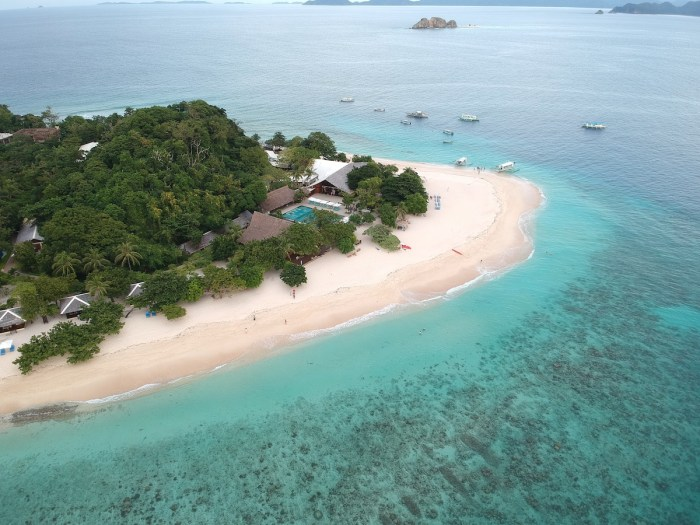 Dimakya Island, where Club Paradise Palawan exclusively stands
