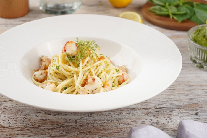 Spaghetti with Shrimp Bottarga and Dill