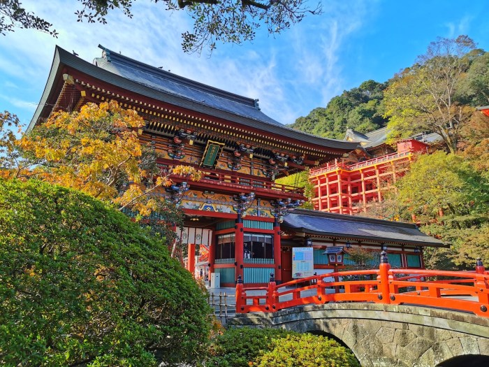 Yutoku Shrine during Autumn