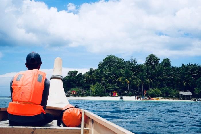 Approaching Bisaya-Bisaya Island