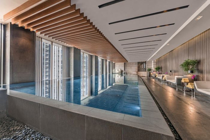 Indoor Infinity Pool at Marco Polo Hotel Manila