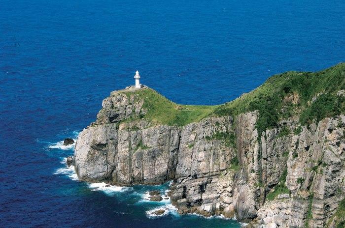 Osezaki lighthouse in Goto Islands