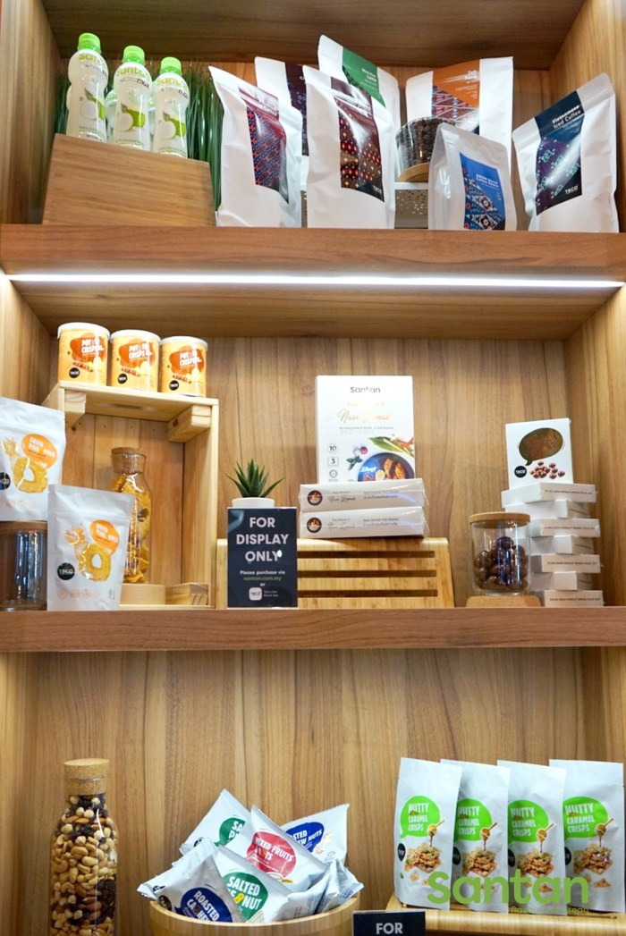 These array of items are available to purchase including coffee beans from T&Co