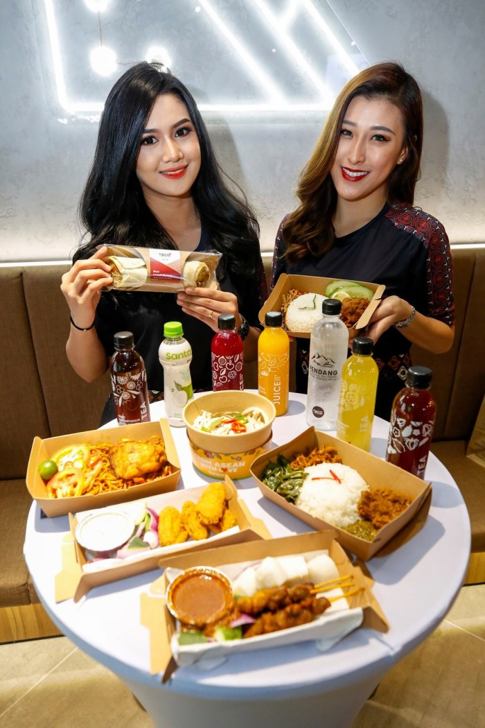 food and drinks available to purchase at the Santan & T&Co Restaurant in Kuala Lumpur