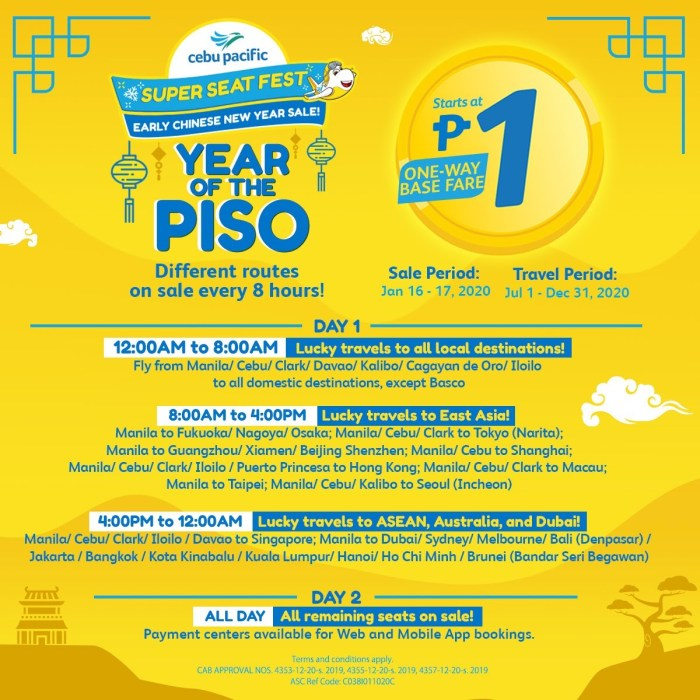 Cebu Pacific Year of the Floor Seat Sale