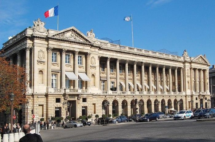 Hotel de Crillon Paris, A Rosewood Hotel photo by Pline via Wikipedia CC
