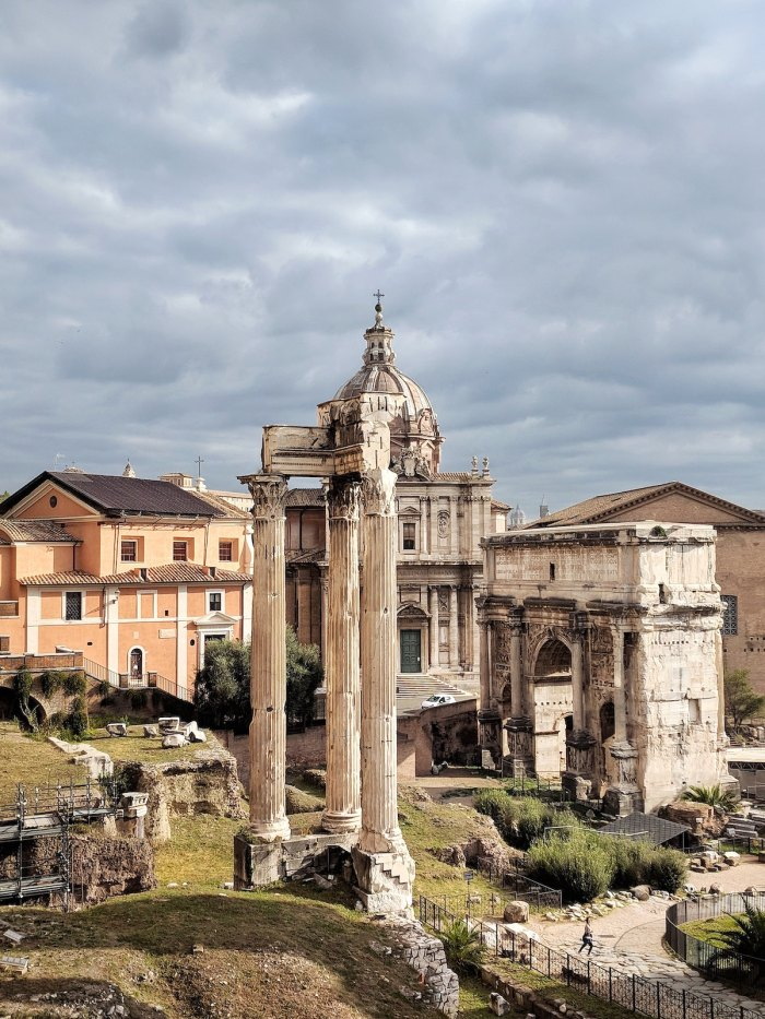 Roman Forum view from Capitoline hill photo by @digital_nomad Katie Kalmykova via Unsplash