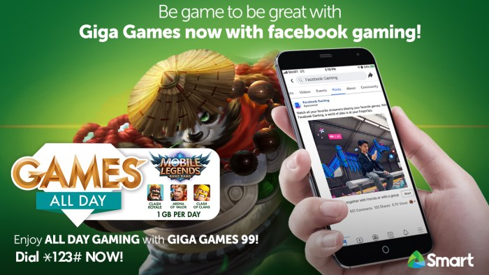 Smart Giga Games Package with Facebook Gaming Feature
