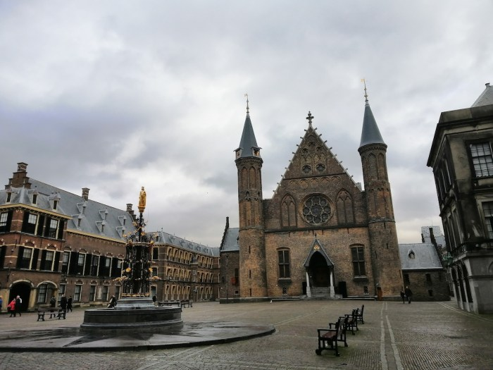 View of the Ridderzaal in the Binnenhof