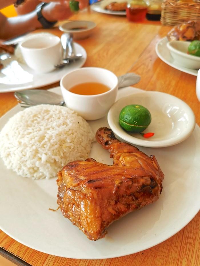 Chicken Inasal at Ranchers Bed and Breakfast Sibuyan