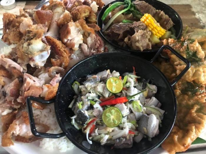 Manaoag Antonio Restaurant Fiesta Bilao - Crispy Pata, Kilawin Bangus, Bulao, Crispy Kangkong