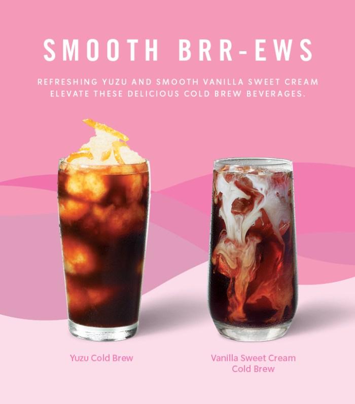 YUZU COLD BREW and CoconutMilk Cold Brew from Starbucks