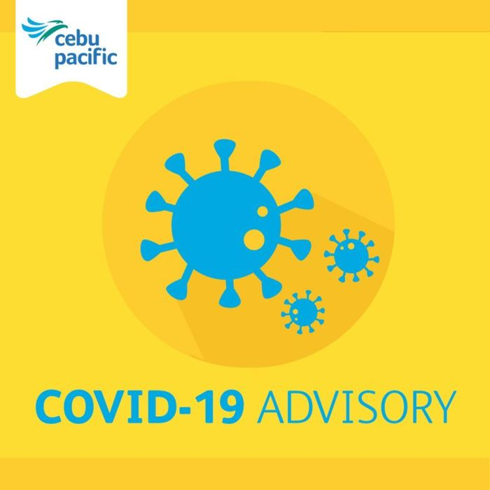 Cebu Pacific Travel Advisory - COVID-19