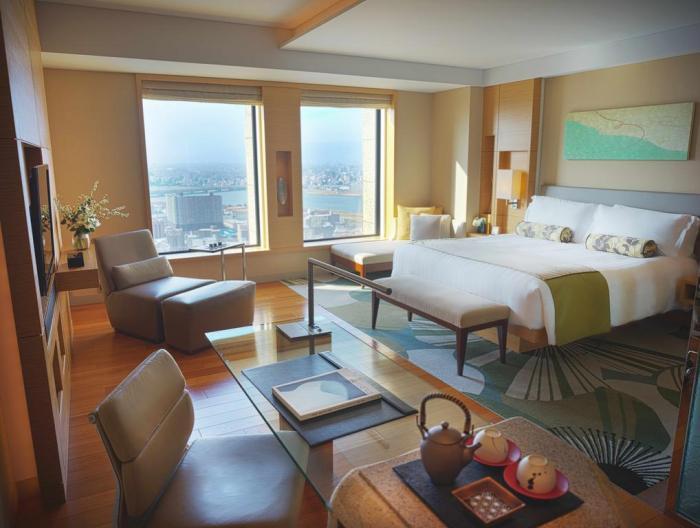 Room with a view at InterContinental Osaka Japan