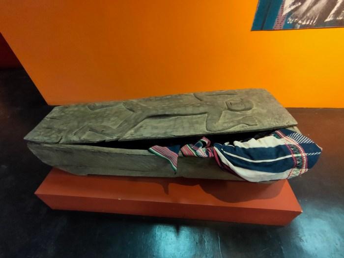 Antique wooden casket from Cordillera