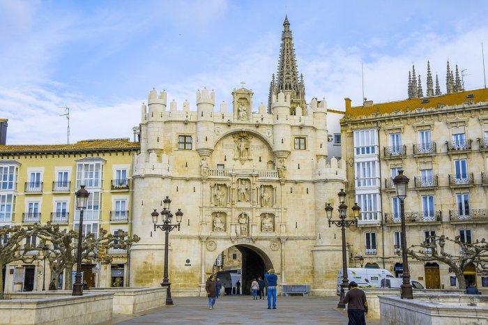 Arco de Santa Maria à Burgos Espagne