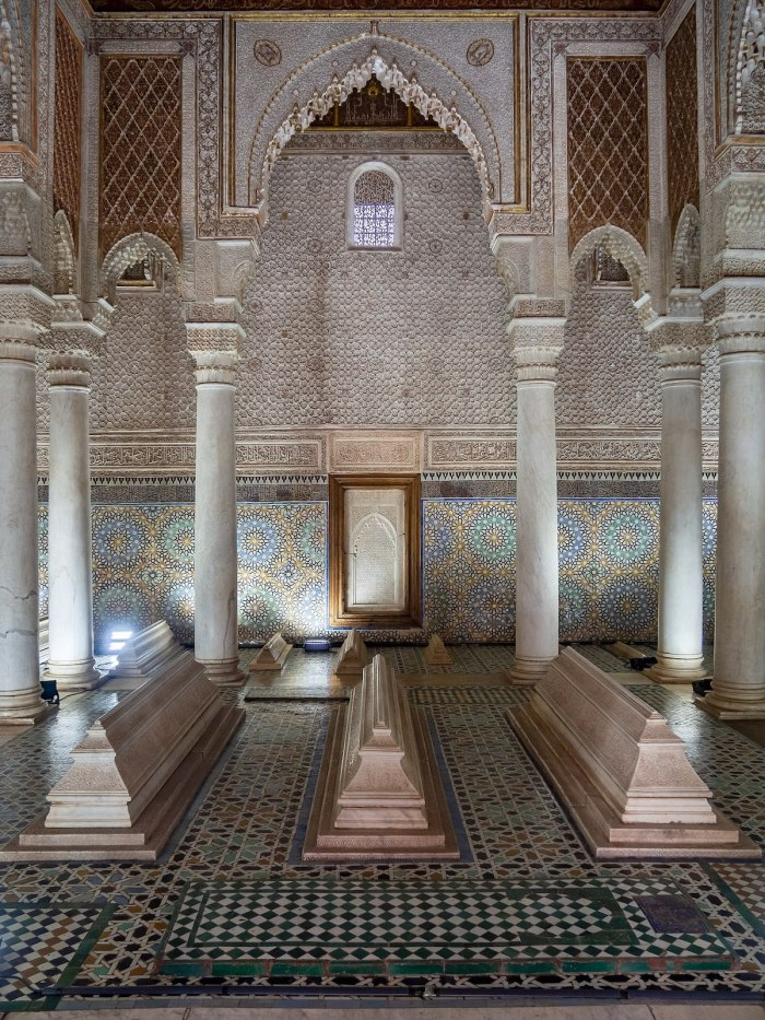 Saadian Tombs - the main room by-C-messier-via-Wikipedia-CC