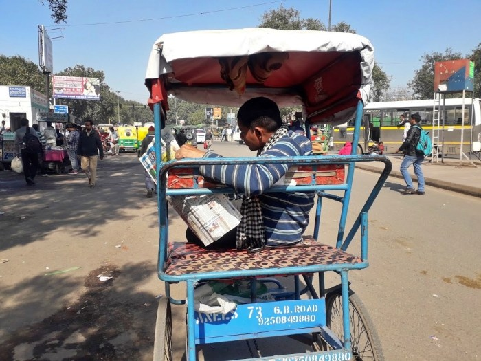 Bicycle rickshaw in Delhi