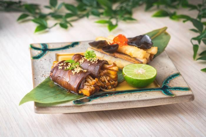 Eggplant Composer - Eggplant, Chinese Yam, Black Fungus and Enoki Mushroom