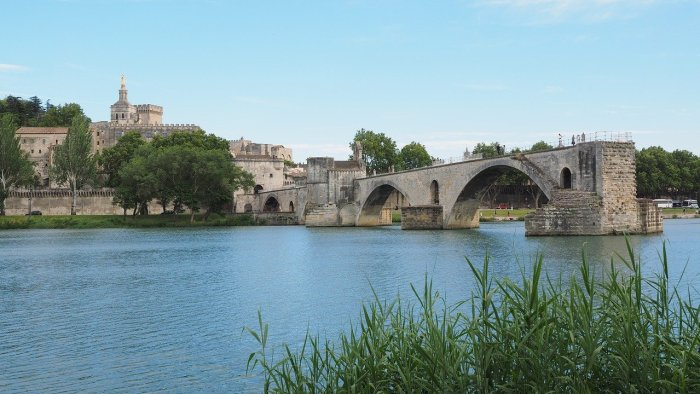 The Pont Saint-Bénézet also known as the Pont d'Avignon