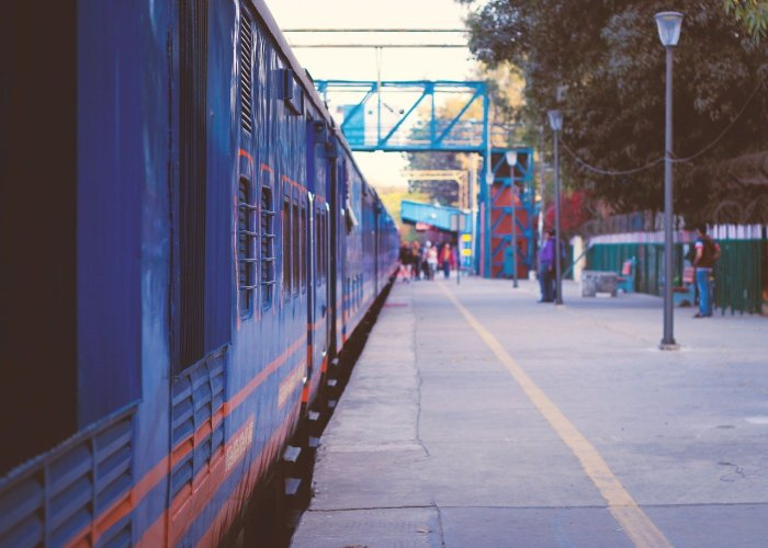 Train station in Delhi