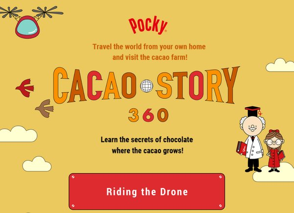Stay Home and Share Happiness, the International Day of Families with Glico's CACAO STORY 360 and GLICODE