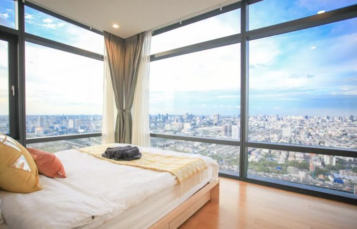 Airbnb in Bangkok with a nice view