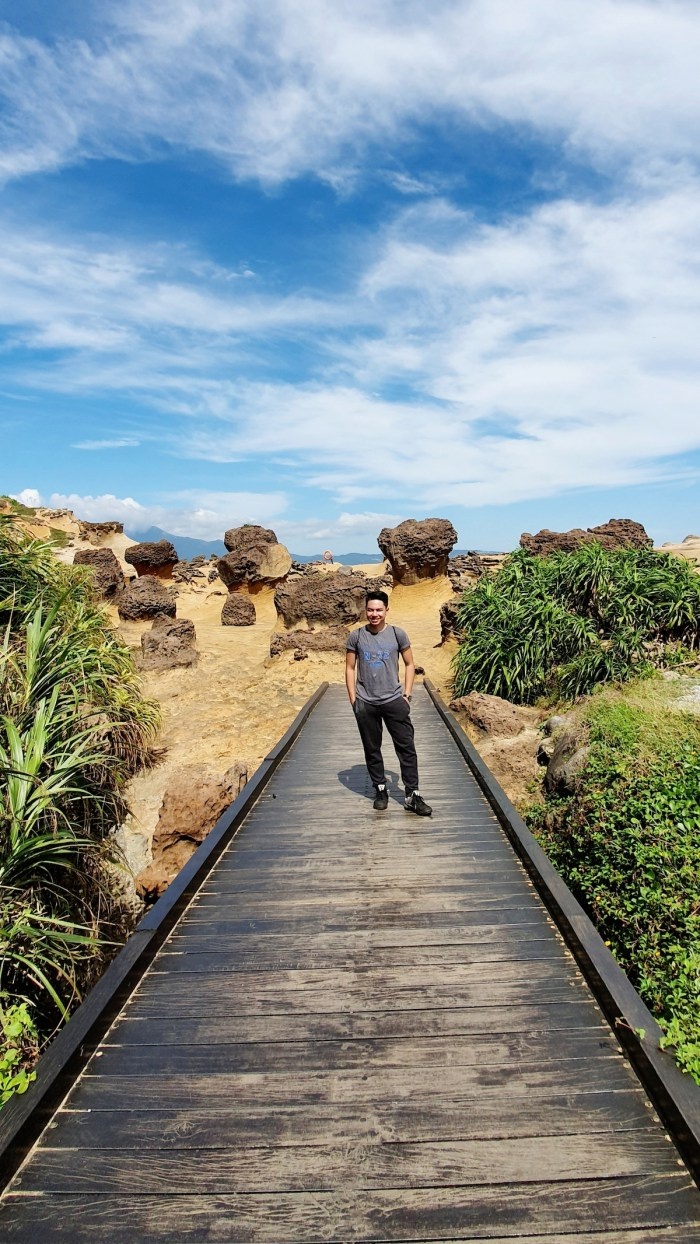 Basking in the light of nature's attention in Yehliu Geopark