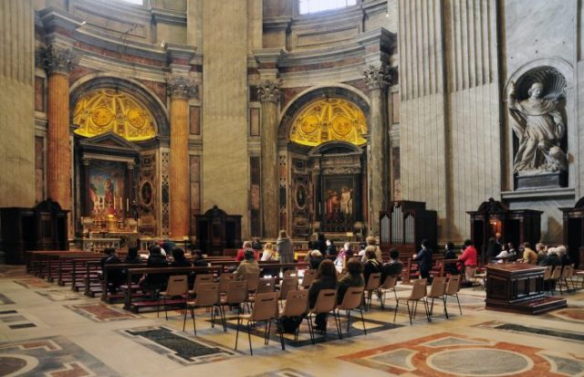 Some Masses are held at the chapels at intervals.