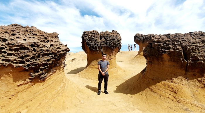 These Mushroom Rocks are huge and surreal