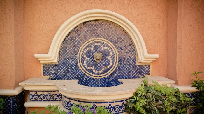mosaic water fountains