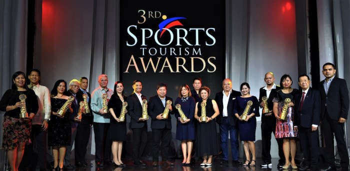 3rd Philippines Sports Tourism Awards winners