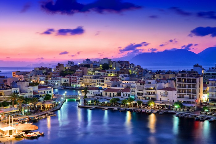 Agios Nikolaos is a picturesque town in the eastern part of the island Crete built on the northwest side of the peaceful bay of Mirabello. photo via DepositPhotos.com