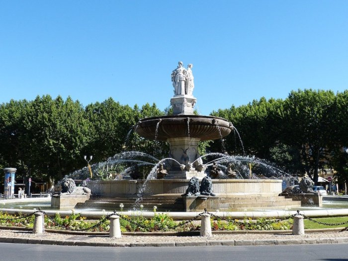 Rotunda Fountain in Aix en Provence, France