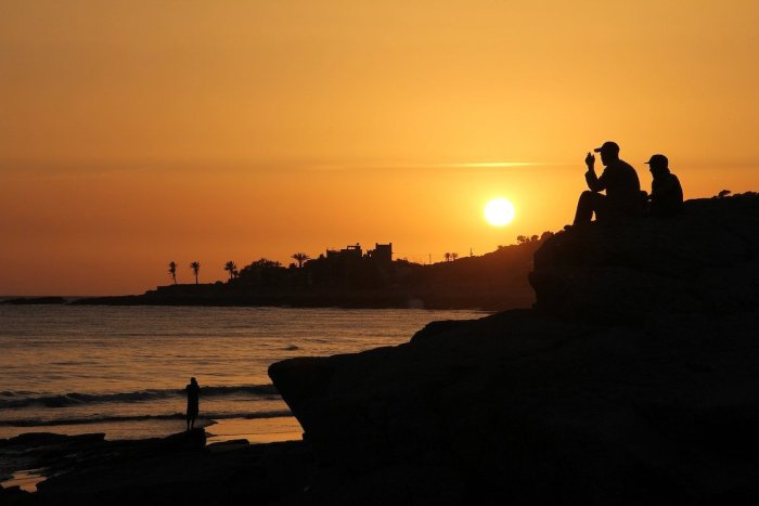 Sunset in Taghazout, Morocco