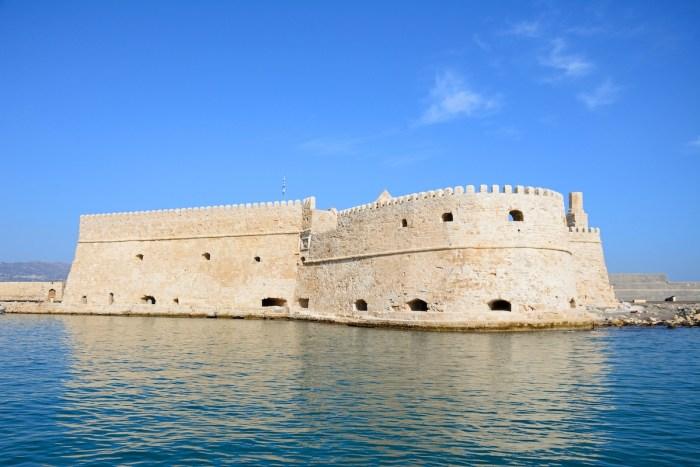 View of Koules castle in the harbour, Heraklion, Crete. via Depositphotos