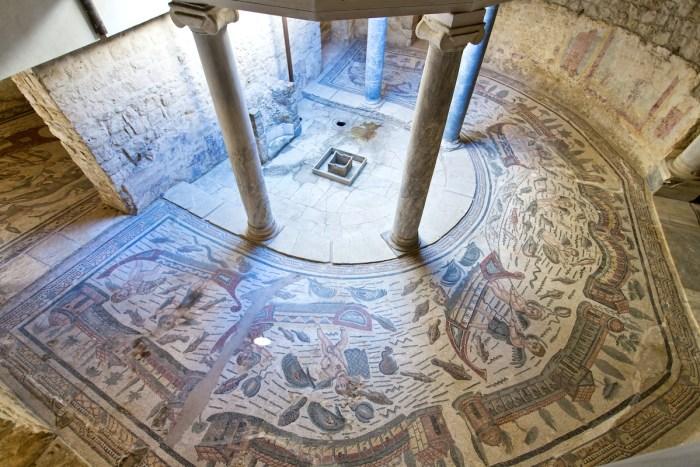 Mosaïques de la Villa Romana del Casale, Piazza Armerina, Sicile, Italie, Site du patrimoine mondial de l'UNESCO via le dépôt de photos