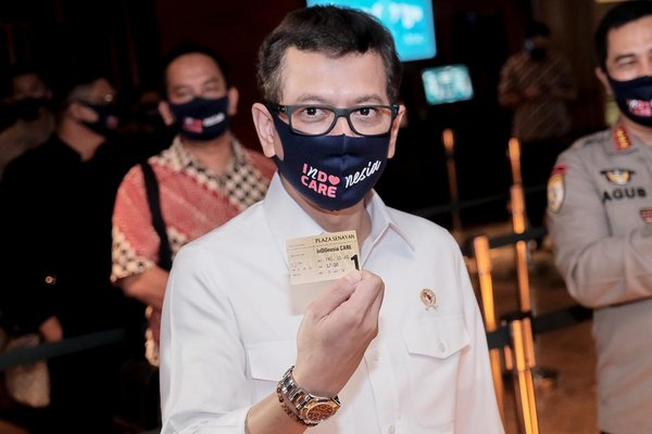 Wishnutama Kusubandio, Minister of Tourism and Creative Economy/Head of Tourism and Creative Economy Agency - at XXI Studio of Plaza Senayan, Jakarta.