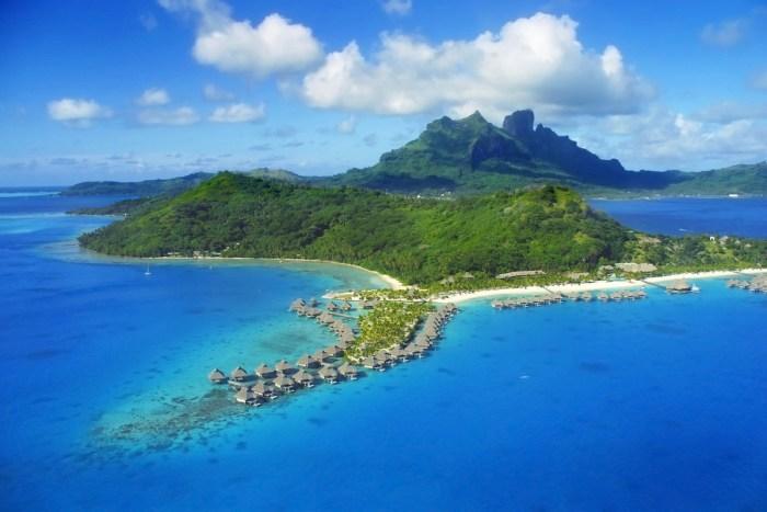 Bora Bora Drone photo via Depositphotos