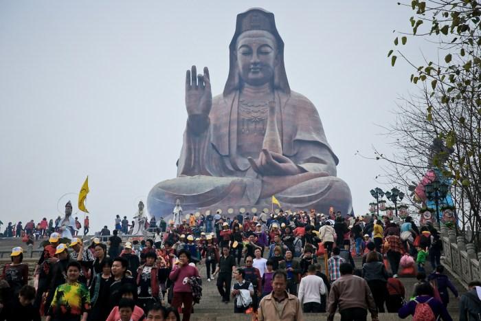 Guanyin of Mount Xiqiao in Foshan China via DepositPhotos