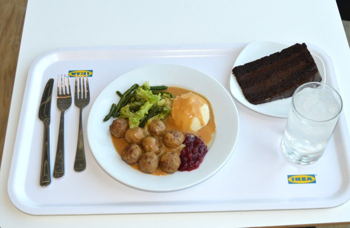 IKEA signature Swedish meatball meal for patrons dining at the IKEA restaurant photo via DepositPhotos