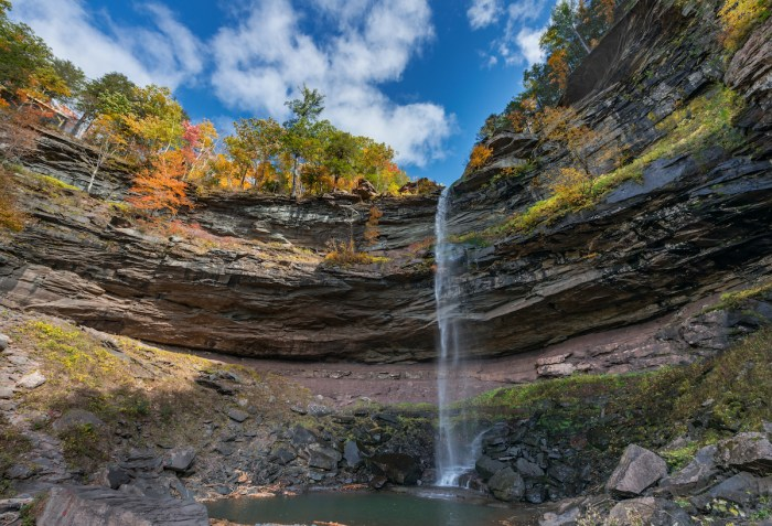 Kaaterskill Falls Catskills Mountain photo via Deposit Photos