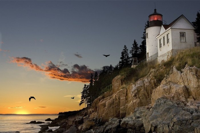 Lighthouse at Bar Harbour Maine